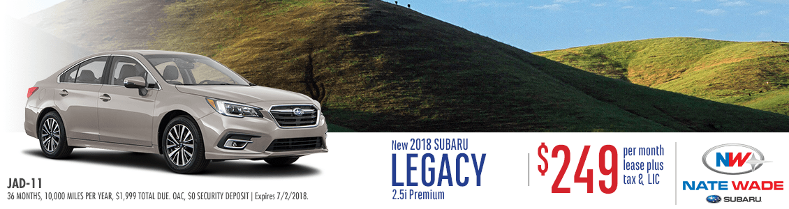 2018 Subaru Legacy 2.5i Premium Low Payment Lease Special in Salt Lake City, UT