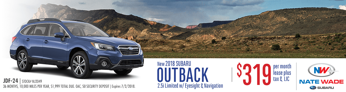 2018 Subaru Outback 2.5i Limited w/ Eyesight & Navigation Lease Special in Salt Lake City, UT