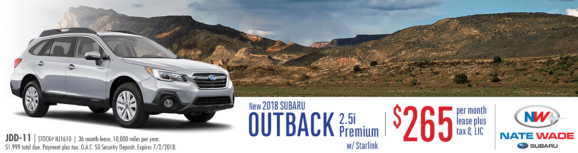 2018 Subaru Outback 2.5i Premium w/ Starlink Low Payment Lease Special in Salt Lake City, UT