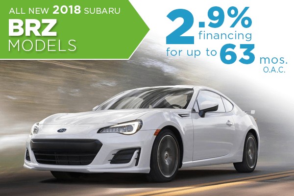New 2018 Subaru BRZ Low Payment Finance Special in Salt Lake City, Utah