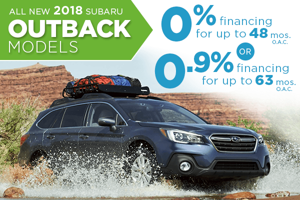 New 2018 Subaru Outback Finance Special Salt Lake City, Utah