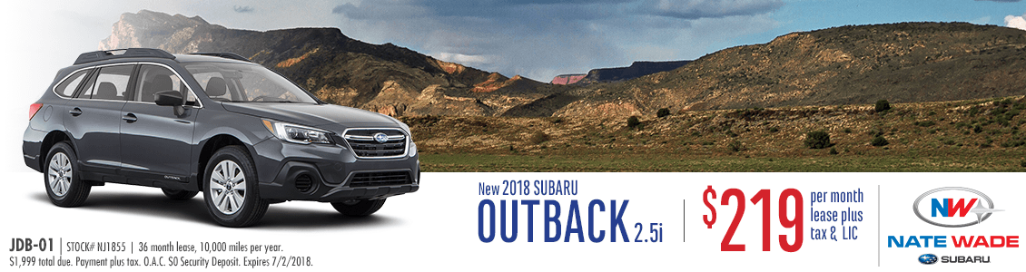 2018 Subaru Outback 2.5i Low Payment Lease Special in Salt Lake City, UT