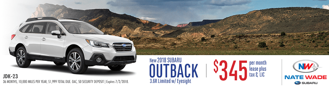 2018 Subaru Outback 3.6R Limited Low Payment Lease Special in Salt Lake City, UT