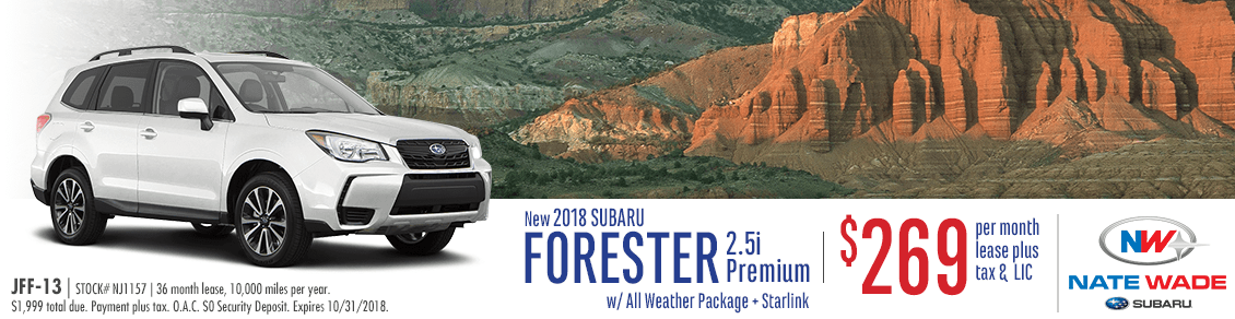 New 2018 Forester 2.5i Premium Lease Special with All Weather Package + Starlink in Salt Lake City, UT