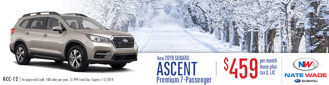Lease the All-New 2019 7-Passenger Ascent with Special Low Monthly Payments from Nate Wade Subaru in Salt Lake City, UT