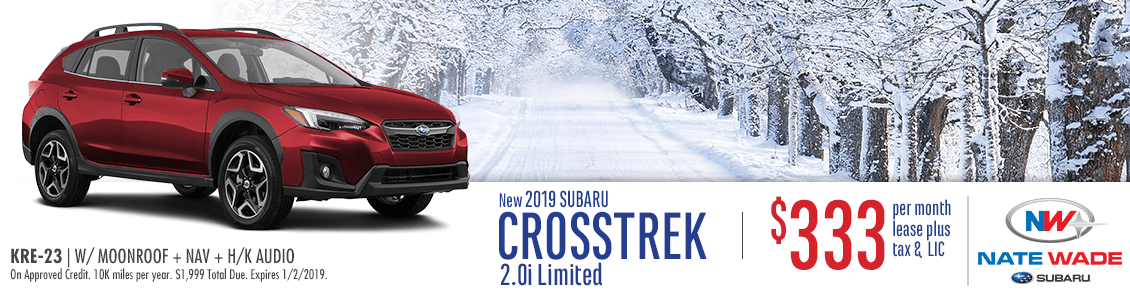 New 2019 Crosstrek 2.0i Limited Lease Special at Nate Wade Subaru in Salt Lake City, UT