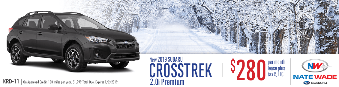 New 2019 Subaru Crosstrek 2.0i Premium Lease Special in Salt Lake City, UT at Nate Wade Subaru