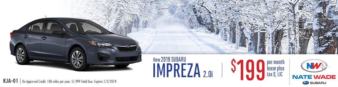 Nate Wade Subaru New 2019 Impreza 2.0i Sedan Lease Special in Salt Lake City