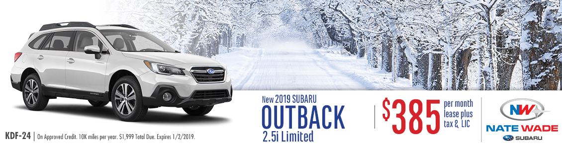 New 2019 Subaru Outback 2.5i Limited Lease Special in Salt Lake City, UT
