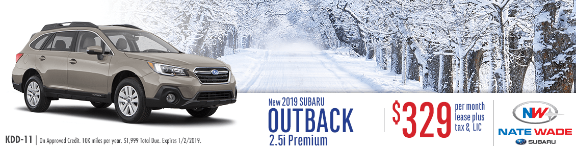 Salt Lake City New 2019 Subaru Outback 2.5i Premium Lease Offer at Nate Wade Subaru