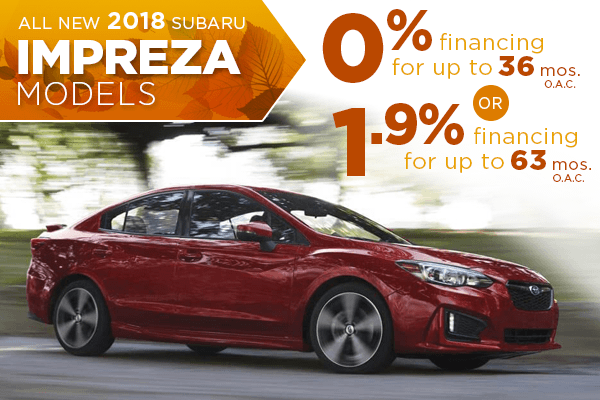 New 2018 Subaru Impreza Finance Special Salt Lake City, Utah