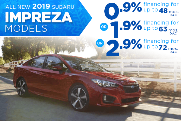 New 2019 Subaru Impreza Finance Specials Salt Lake City, Utah