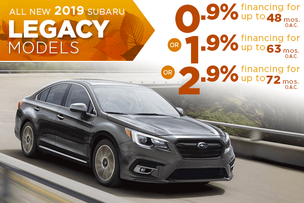 New 2019 Subaru Legacy Finance Specials Salt Lake City, Utah