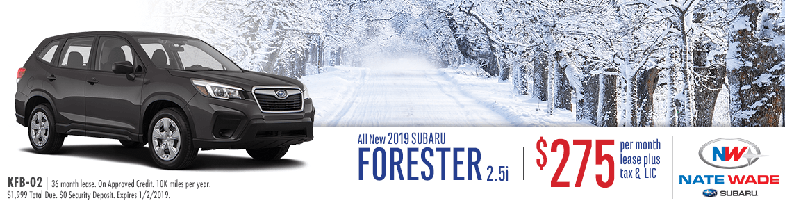 New 2019 Subaru Forester 2.5i Low Payment Lease Special in Salt Lake City, UT