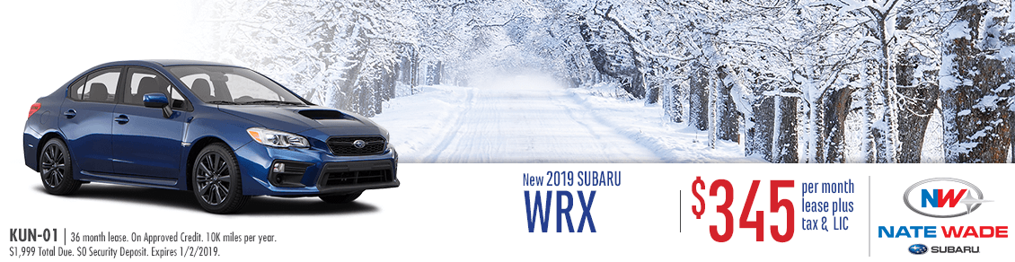 New 2019 Subaru WRX Lease Special in Salt Lake City, UT
