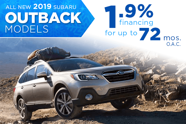 New 2019 Subaru Outback Finance Specials Salt Lake City, Utah