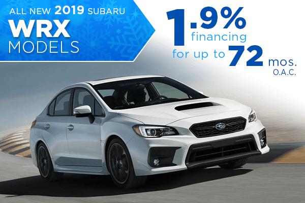 2019 Subaru WRX Low APR Finance Special in Salt Lake City, Utah