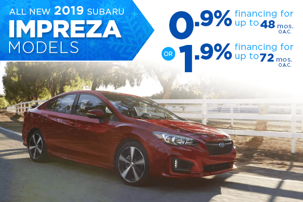New 2019 Subaru Impreza Finance Specials Salt Lake City, Utah