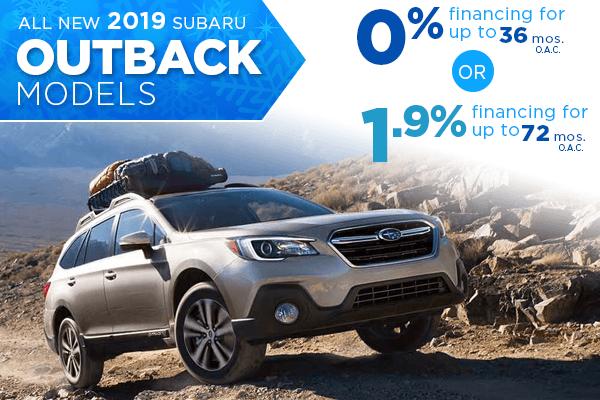 New 2019 Subaru Outback Finance Specials Salt Lake City, Utah