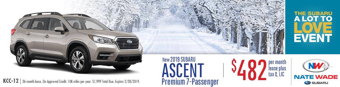 2019 Subaru Ascent Premium 7-Passenger Lease Special at Nate Wade Subaru in Salt Lake City, UT