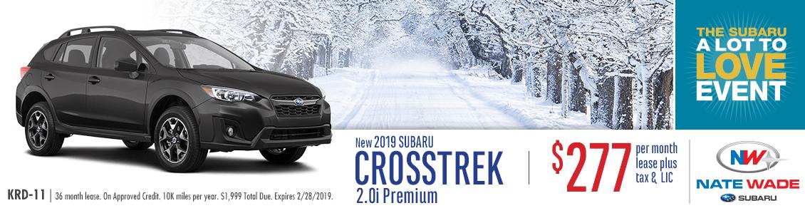 2019 Crosstrek 2.0i Premium Low Payment Lease Special at Nate Wade Subaru in Salt Lake City, UT