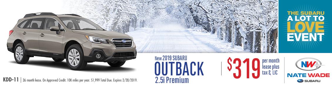 2019 Outback 2.5i Premium Lease Special at Nate Wade Subaru in Salt Lake City, UT