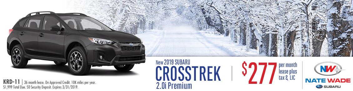 New 2019 Crosstrek 2.0i Premium Lease Special at Nate Wade Subaru in Salt Lake City, UT