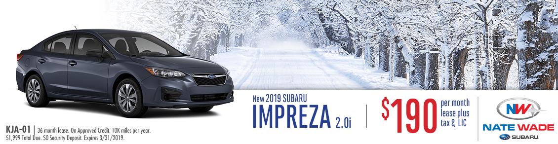 2019 Impreza 2.0i Lease Special at Nate Wade Subaru in Salt Lake City, UT