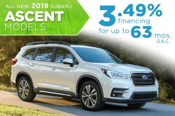 2019 Subaru Ascent Finance Special Salt Lake City, Utah