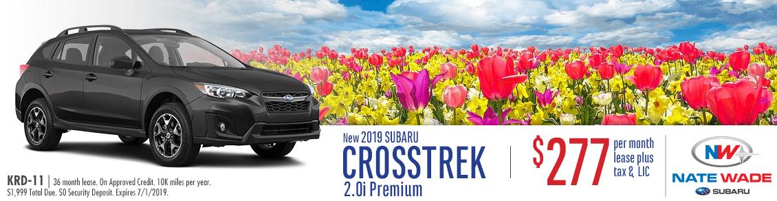 New 2019 Crosstrek 2.0i Premium Lease Special at Nate Wade Subaru in Salt Lake City, UT