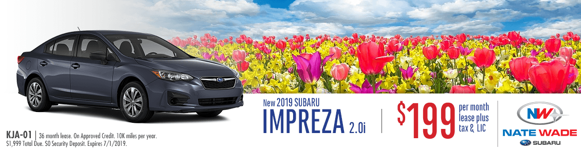2019 Impreza 2.0i Lease Special at Nate Wade Subaru in Salt Lake City, UT