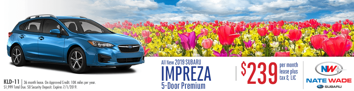 2019 Impreza 5-Door Premium Lease Special at Nate Wade Subaru in Salt Lake City, UT