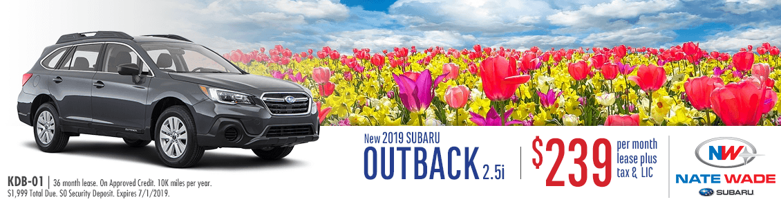 2019 Outback 2.5i Low Payment Lease Special at Nate Wade Subaru in Salt Lake City, UT