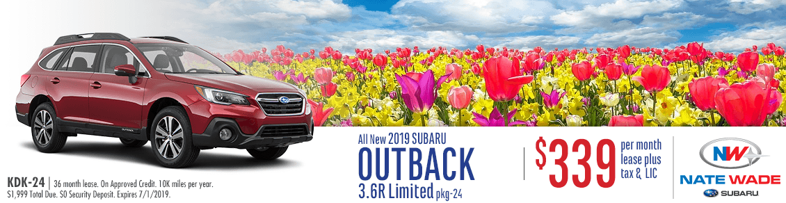 2019 Outback 3.6R Limited Lease Special at NateWade Subaru in Salt Lake City, UT