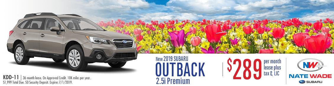 2019 Outback 2.5i Premium Lease Special at NateWade Subaru in Salt Lake City, UT