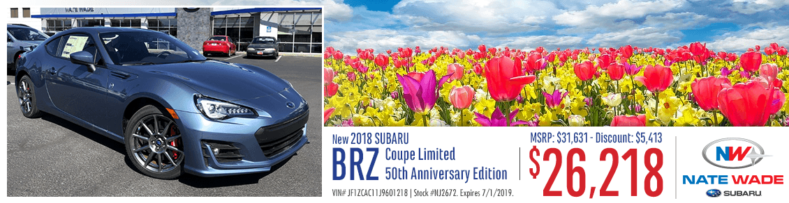 New 2018 Subaru BRZ Purchase Special in Salt Lake City, UT