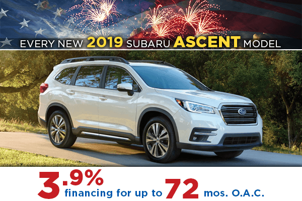 2019 Subaru Ascent Finance Special Salt Lake City, Utah