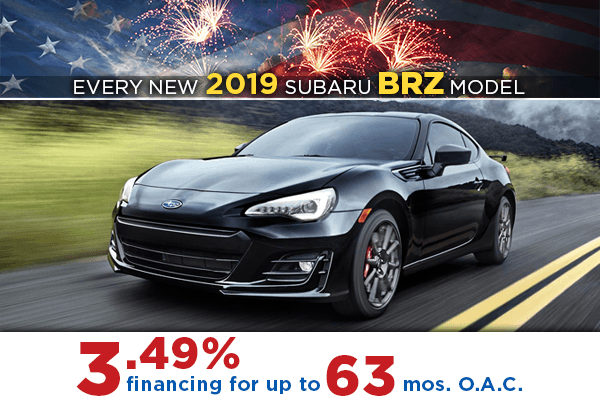 New 2019 Subaru BRZ Low Payment Finance Special in Salt Lake City, Utah