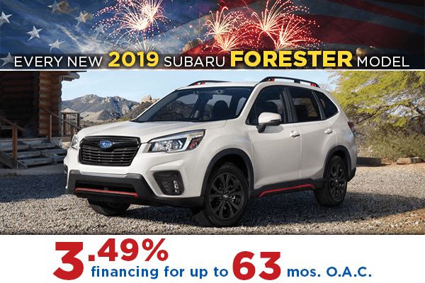 All New 2019 Subaru Forester 3.49% Finance Offer serving Taylorsville & Salt Lake City, UT