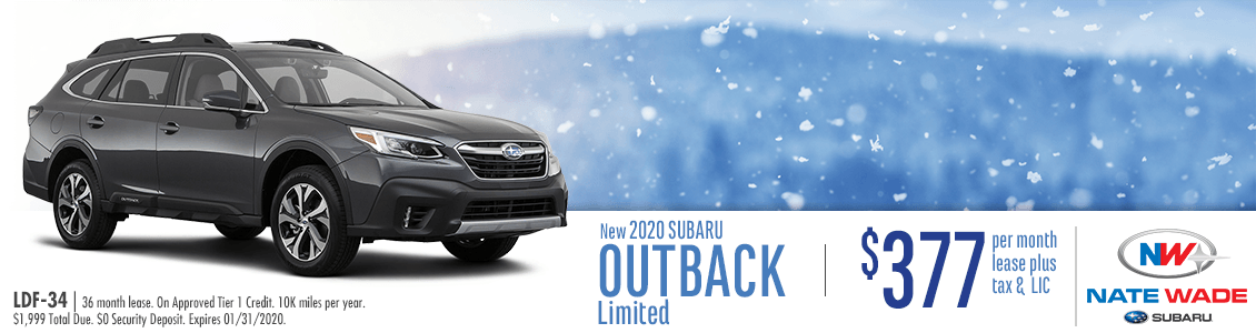 2020 Subaru Outback Limited Low Payment Lease Special in Salt Lake City, UT