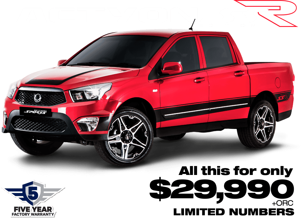 Purchase a new 2017 SsangYong Actyon SSR and save for a limited time! Contact SsangYong for more details
