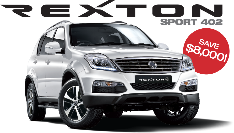 Save on New SsangYongRexton Sport 402 Models