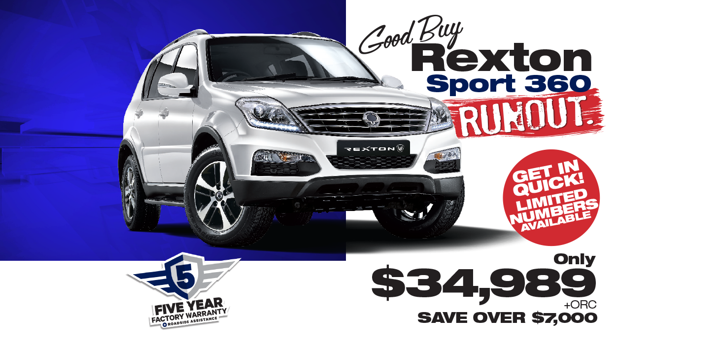 Save During the SsangYong Rexton Sport 360 Runout Sales Event