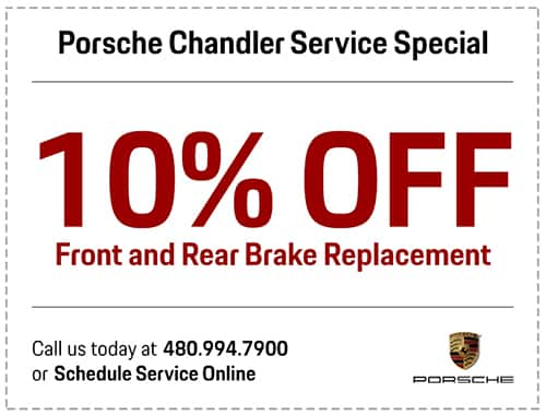 Porsche Front & Rear Brake Replacement Service Special in Chandler, AZ