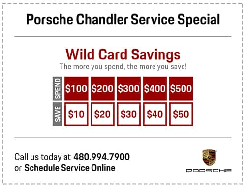 Save on Service With the Wild Card Special at Porsche Chandler