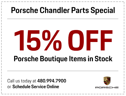 Porsche Chandler boutique items in stock parts special serving the Phoenix-Area