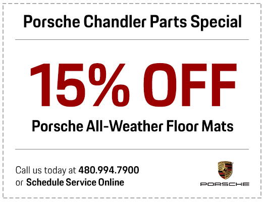 Porsche Chandler all-weather floor mat parts special serving the Phoenix-Area