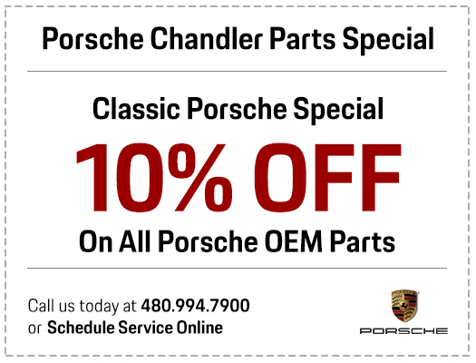 Porsche OEM parts special in Chandler, AZ