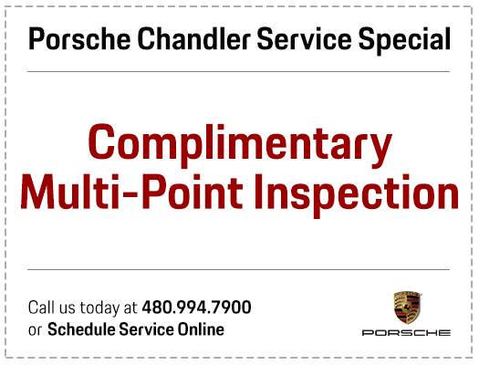 Complimentary Multi-Point Porsche Inspection Service Special in Chandler, AZ