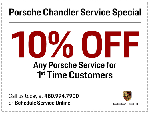Give Us A Try with our 10% Off Any Porsche Service for 1st Time Customers Service Special in Chandler, AZ